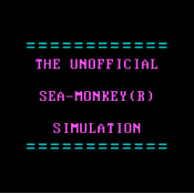 The Unofficial Sea-Monkey(R) Simulation - Details